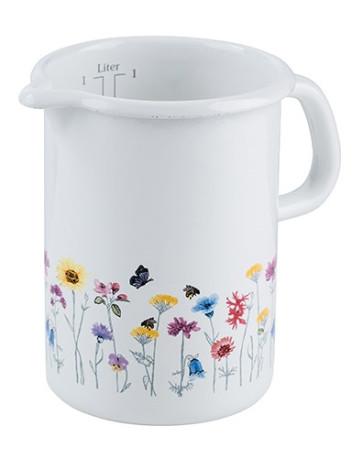 Fer Pot avec émail en porcelaine et support extra robuste.