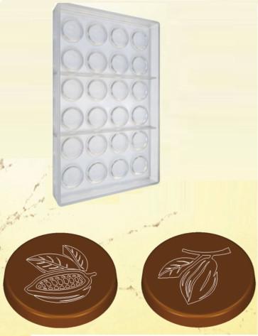 Stampo in policarbonato per cioccolato Moneta