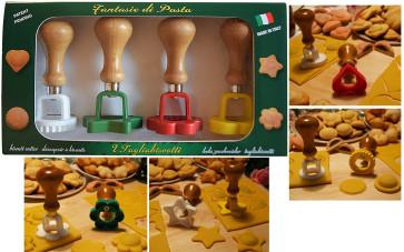 Set taglia biscotti 4 forme: sole, cuore, stella, fiore