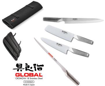 Mallette Global complète avec 4 couteaux de la série G