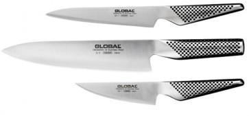 Trio Global: Couteaux japonais à la cuisine