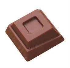 Moule à chocolats en polycarbonate Carrés