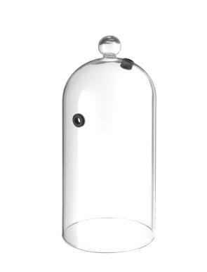 Cloche en verre avec ventilation haute pour fumer