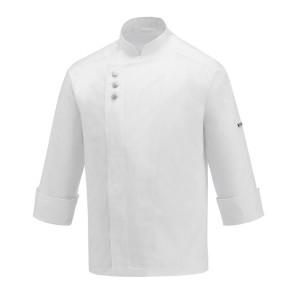 Giacca cuoco Modern con chiusura 3 bottoni colore Bianco