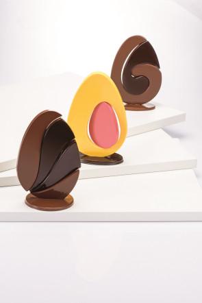 Oeufs en deux dimensions - Kit 3 pièces thermoformé par Martellato