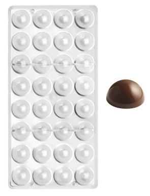 Moule en polycarbonate pour chocolats Demi-sphère 22 cm.