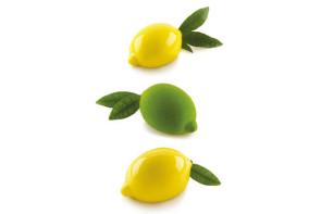 Moule en silicone Citron + support en plastique Silikomart Professional