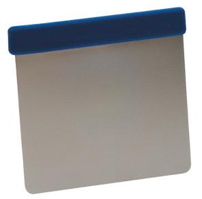 Grattoir flexible en acier inoxydable avec poignée bleu