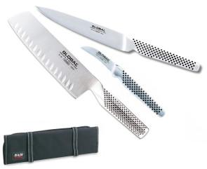 Rouleau Chef de Entremetier plein de couteaux japonais de Global