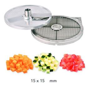 Kit d'accessoires cubes 15 x 15 mm. Coupe-légumes Kronen KG 201