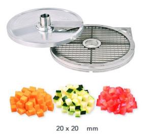 Kit d'accessoires cubes 20 x 20 mm. Coupe-légumes Kronen KG 201