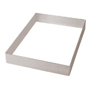 Fascia per torte - Tagliapasta a forma di rettangolo in acciaio inox