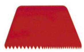 Raschietto Trapezio zig zag in polipropilene per pasticceria