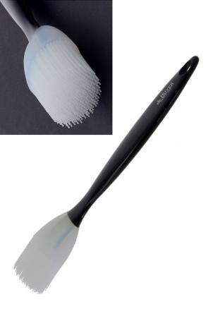 Pennello largo tondo in silicone