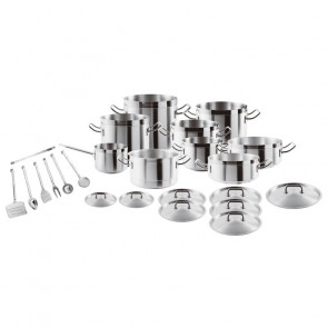 Set di Pentole PROFESSIONALE 24 pezzi in acciaio inox di Sambonet