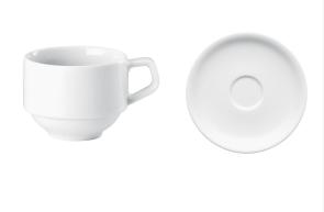 Tasse empilable pour café avec soucoupe série Rotondo de Arthur Krupp