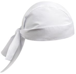 Bandana en coton en forme de couleur blanche