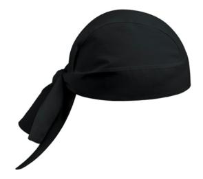 Bandana en coton en forme de couleur noir