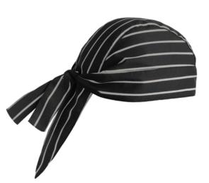 Bandana AMERICA en forme de noir avec des rayures blanches
