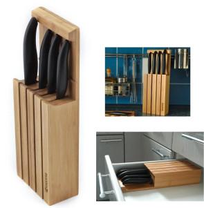 Ceppo in legno porta coltelli Kyocera