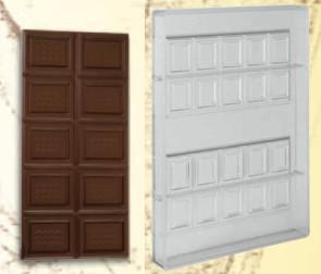 Stampo in policarbonato Tavoletta di cioccolato 75 gr.