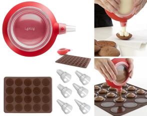 Kit pour petits gâteaux WHOOPIES: Doseur et petit tapis pour cuisson