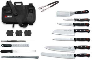 valigetta completa di coltelli e accessori