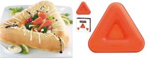 Moule à gâteau couronne Savarin triangulaire en silicone