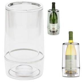 Glacette raffredda bottiglie di vino in acrilico trasparente
