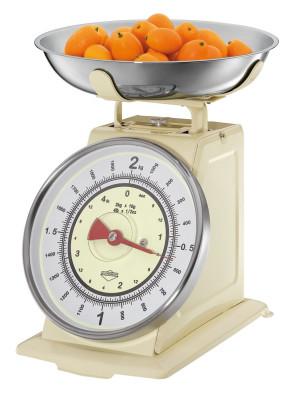Bilancia meccanica da cucina Nostalgie Color Crema