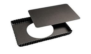 Tortiera rettangolare festonata fondo mobile antiaderente
