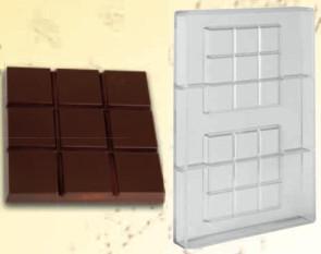 Stampo in policarbonato cioccolatino Tavoletta Quadrata 100 grammi