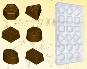 Stampo in policarbonato per cioccolato Pralineria