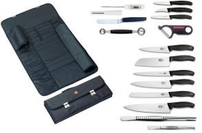 EASY mallette complète: Victorinox Swiss Classic, couteau en céramique 15 cm et accessoires