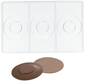 Moule en polycarbonate pour 3 soucoupes au chocolat