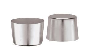 6 Moules pour crème caramel Diamètre cm. 6 Hauteur cm. 4,8 en aluminium