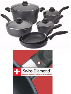 Batterie de 6 casseroles Swiss Diamond 365 jours Forever