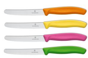 Couleurs à table: 4 couteaux Victorinox SwissColors