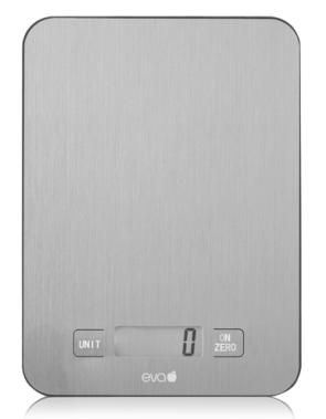 Balance de cuisine numérique pesant 1 g. jusqu'à 10 kg en acier inoxydable