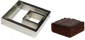 Cadre carré en acier inox