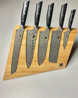 #Hibana: Bloc à couteaux en bambou complet avec 5 Couteaux Damas Miyabi Série 800DP