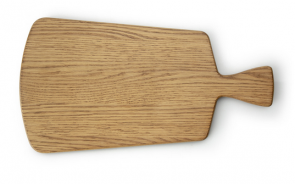 Planche à découper rectangulaire avec manche en bois de chêne