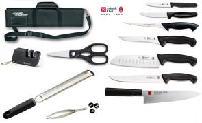 Valigetta completa Chef Produttivo: 7 coltelli e accessori