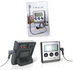 Facile: Thermomètre avec sonde avec fonction minuterie
