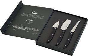 Set de fromages à manche noir 1896 Line de Due Cigni Coltellerie