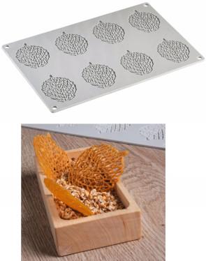 Stampo in silicone Foglia di Pavoni Professional