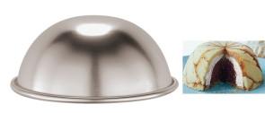 Moule à zuccotto (dessert glacé en forme de dôme) en aluminium
