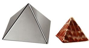Stampo a forma di piramide in acciaio inox