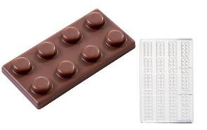 Brique Basse: moule en polycarbonate pour chocolat Napolitain par Martellato