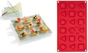 Moule en silicone Multiportion pour Fingerfood 3 formes